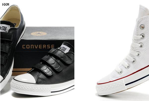 chaussure converse cuir noir femme