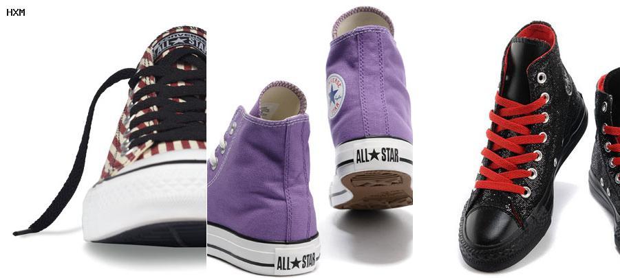 chaussure converse en cuir noir