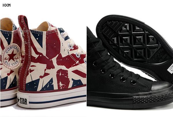 chaussure converse noir cuir
