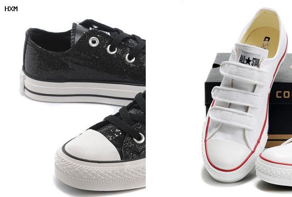 chaussures converse cuir noir