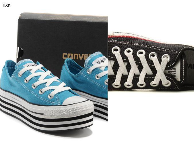 chaussures converse vertes