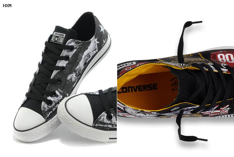converse all star cuir noir monochrome