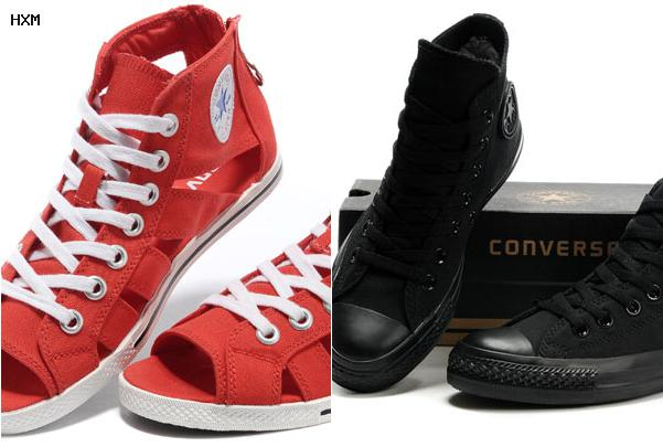 converse all star light cuir marron