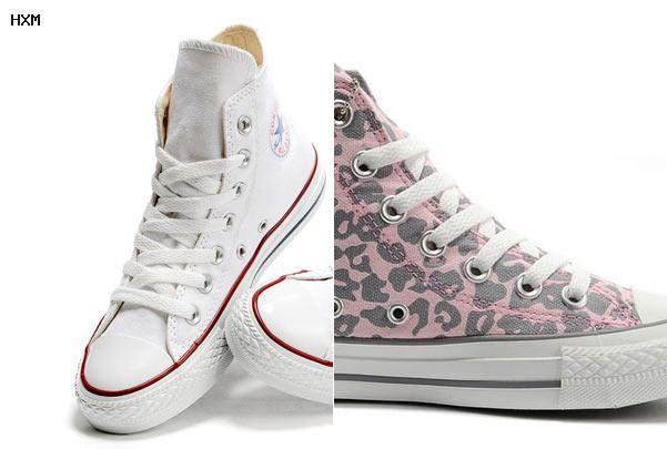 converse blanche cuir femme soldes